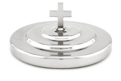 Communion Bread Plate Cover - Polished Aluminum