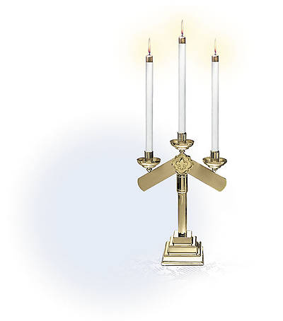 Three-Light Candelabra - Pair