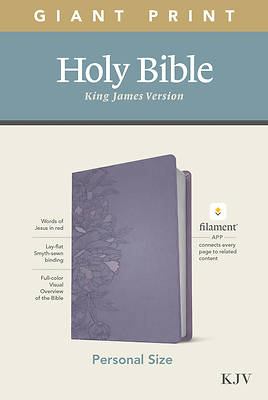 Picture of KJV Personal Size Giant Print Bible, Filament Enabled Edition (Leatherlike, Peony Lavender)