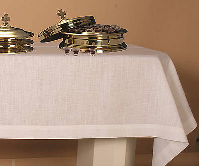 "Picture of Pure Linen Plain Communion Table Cover - 50""x 86"""