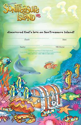 Gospel Light VBS 2014 SonTreasure Island Student Certificates (Package of 50)