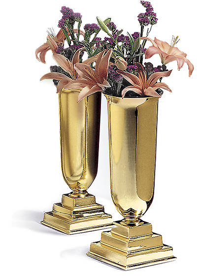 Picture of Traditional Vases with Liners - Pair