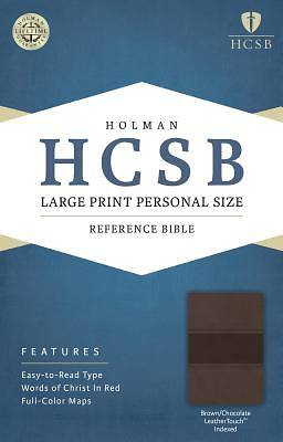 HCSB Large Print Personal Size Bible, Brown/Chocolate Leathertouch Indexed
