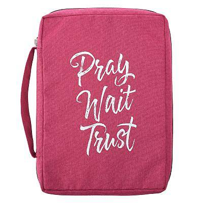 Bible Cover Large Value Pray Wait Trust