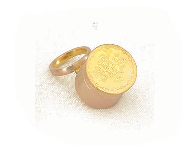 Gold Oil Stock with Ring
