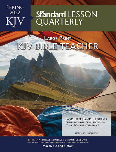 Picture of Standard Lesson Quarterly KJV Bible Teacher Book Large Print Spring