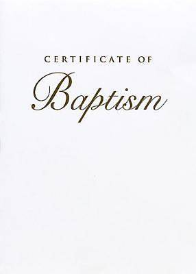 Abingdon Select Collection Childrens Baptism Certificate, Gold