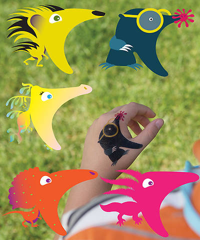 Group VBS 2014 Weird Animals Hand Decals 5pk