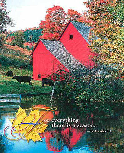 Picture of Fall- Red Barn, Large Bulletin (Package of 50)