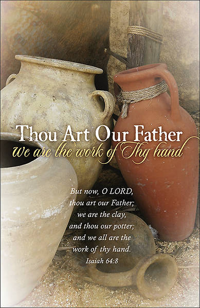 Thou Art Our Father Clay Pots Bulletin, Regular Size (Package of 100)