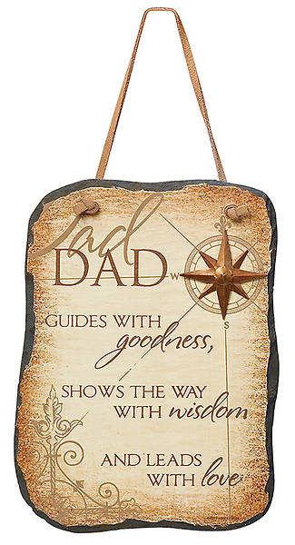 """Dad Guides"" Slate Plaque"