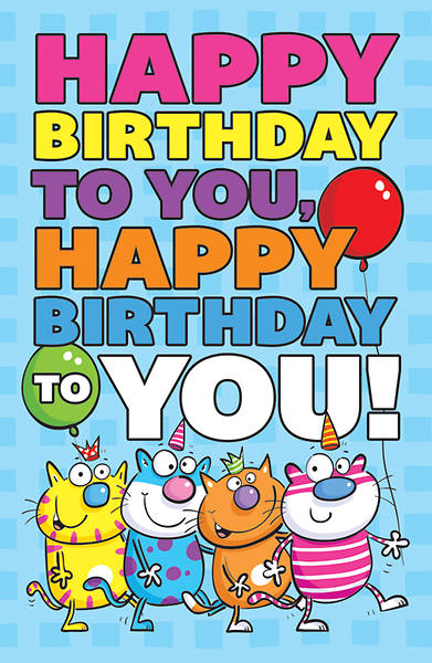 Happy Birthday To You Postcard