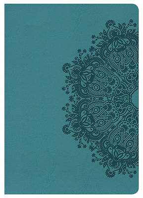 Picture of NKJV Large Print Compact Reference Bible, Teal Leathertouch