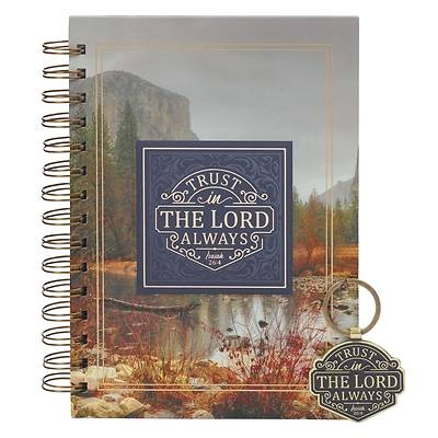 Picture of Gift Set Journal and Keyring Navy Trust in the Lord Always Isaiah 26