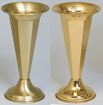 "Picture of Koleys K120 Satin Brass 15"" Inch Vase"