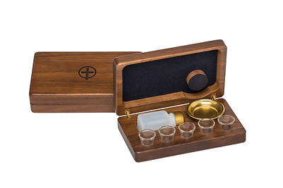 Picture of Artistic ART 735 5-Cup Portable Communion Set with Walnut Case