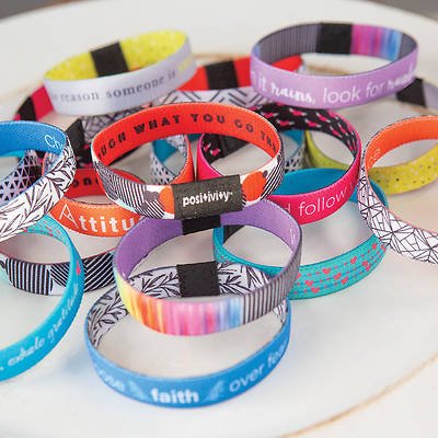 "Positive Hidden Message Flip Bracelet  7"" - Various Styles"