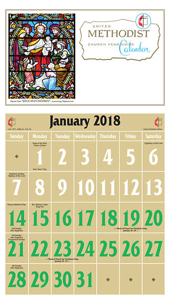 Ashby United Methodist Calendar 2018