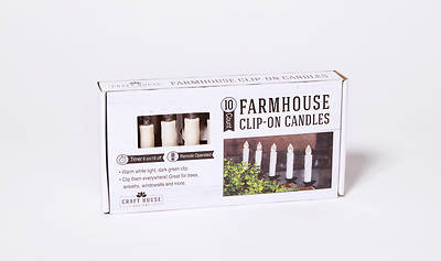 Picture of Farmhouse Ivory Clip On Candle Set With Remote