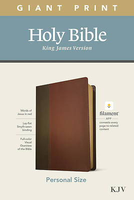 Picture of KJV Personal Size Giant Print Bible, Filament Enabled Edition (Leatherlike, Brown/Mahogany)