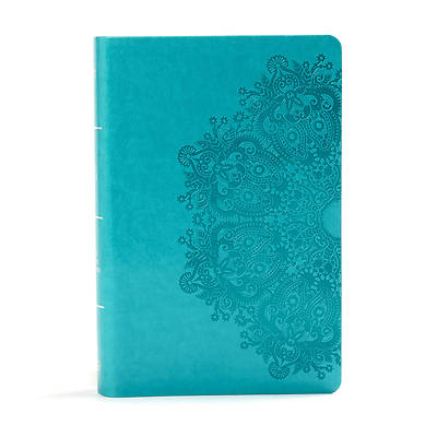 Picture of KJV Large Print Personal Size Reference Bible, Teal Leathertouch Indexed