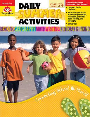 Daily Summer Activities, Moving from 3rd to 4th Grade