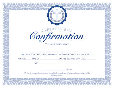 Picture of Certificate - Confirmation - Eph 2:8 (NIV)