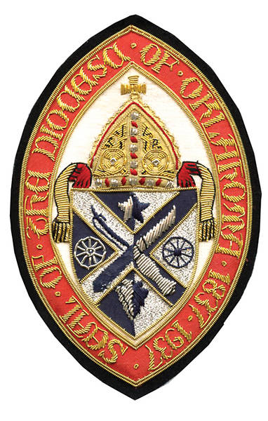 Hand Embroidered Diocesan Seal - Diocese of Oklahoma