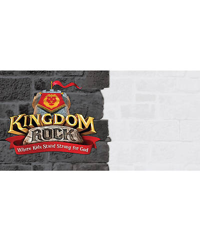 Group VBS 2013 Kingdom Rock Outdoor Banner: Kingdom Rock Logo