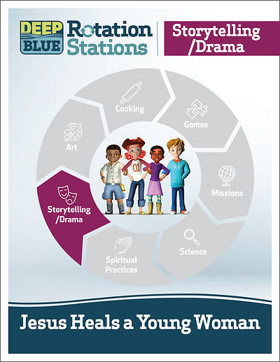 Picture of Deep Blue Rotation Stations: Jesus Heals a Young Woman - Storytelling/Drama Station Download