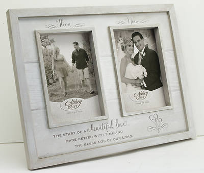 Picture of Then & Now Anniversary Wood Frame