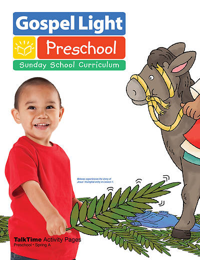 Picture of Gospel Light Preschool Ages 2- 3 Talk Time Activity Page Spring Year A