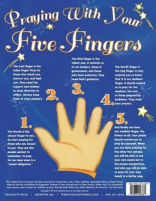 Picture of Praying with My Five Fingers - Prayer Card, Catholic (25 Pack)