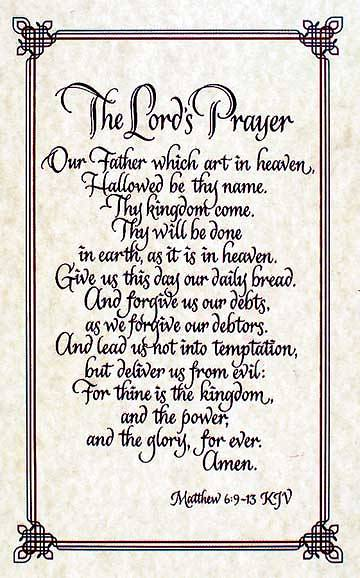 Picture of Lord's Prayer Calligraphy Bulletin, Regular Size (Package of 50)