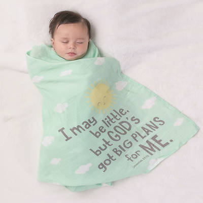 Picture of Big Plans Swaddle Blanket and 12 Month Cards