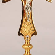 "Picture of Koleys K820 24K Gold Plated 16"" Altar Crucifix"