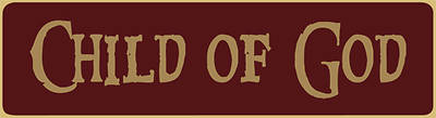 "Picture of 6"" Child of God Mini Sign Red"