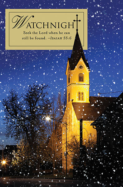 Seek The Lord Watchnight Bulletin 2012, Regular Size (Package of 50)