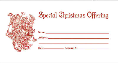 Christmas Offering Envelope  #6007E (Glory) Red - Pack of 50