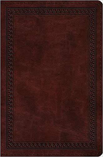 Picture of ESV Compact Bible (Trutone, Mahogany, Border Design)