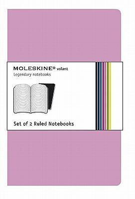 Notebook Moleskine Volant Pink Ruled Set of 2