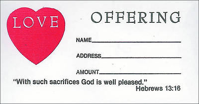 Love Offering Envelope - Hebrews 13:16 (KJV)