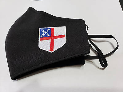 Picture of Episcopal Shield Black Face Mask - Large Size