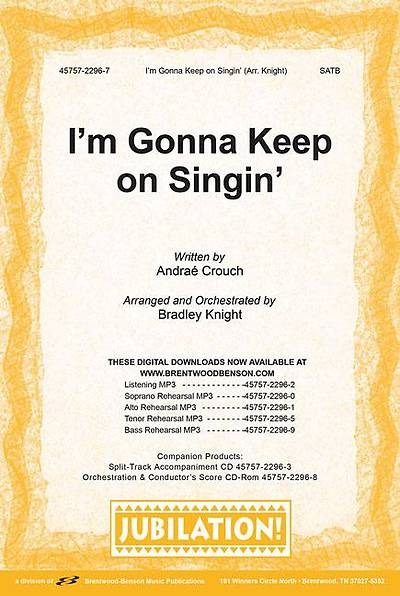 Im Gonna Keep on Singin Orchestration/Conductors Score CD-ROM