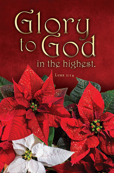 Picture of Glory To God Christmas Tabloid Size Bulletin