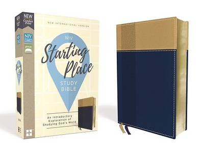 Picture of Niv, Starting Place Study Bible, Leathersoft, Blue/Tan, Comfort Print