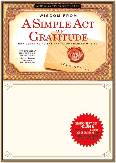 Picture of A Simple Act of Gratitude Stationery Set