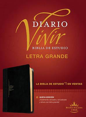 Picture of Biblia de Estudio del Diario Vivir Rvr60, Letra Grande (Letra Roja, Sentipiel, Negro/Ónice)