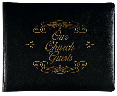 Picture of Large Church Guest Book - Black