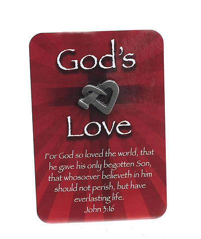 Gods Love Lapel Pin with Card